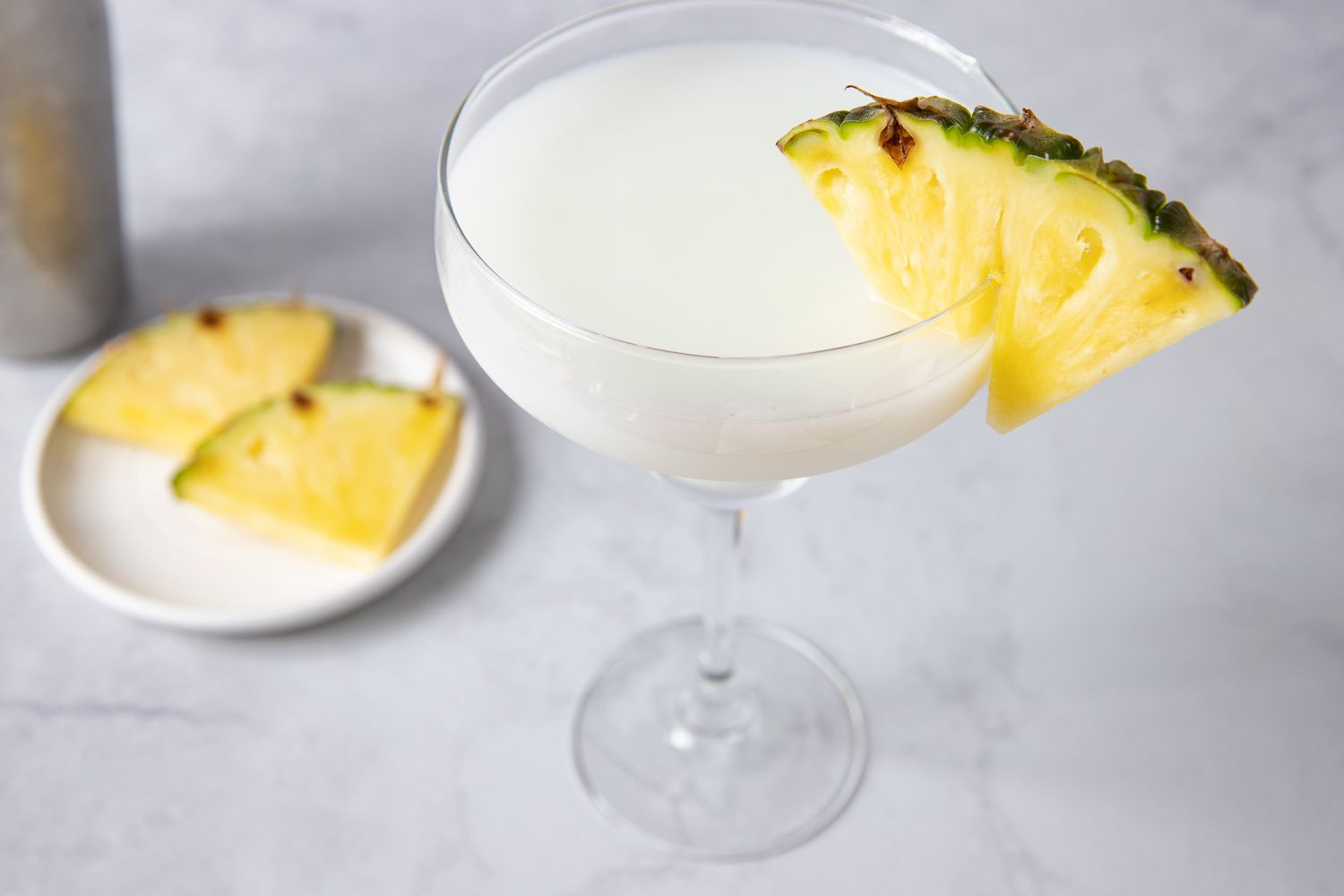 Coco Margarita garnished with a pineapple