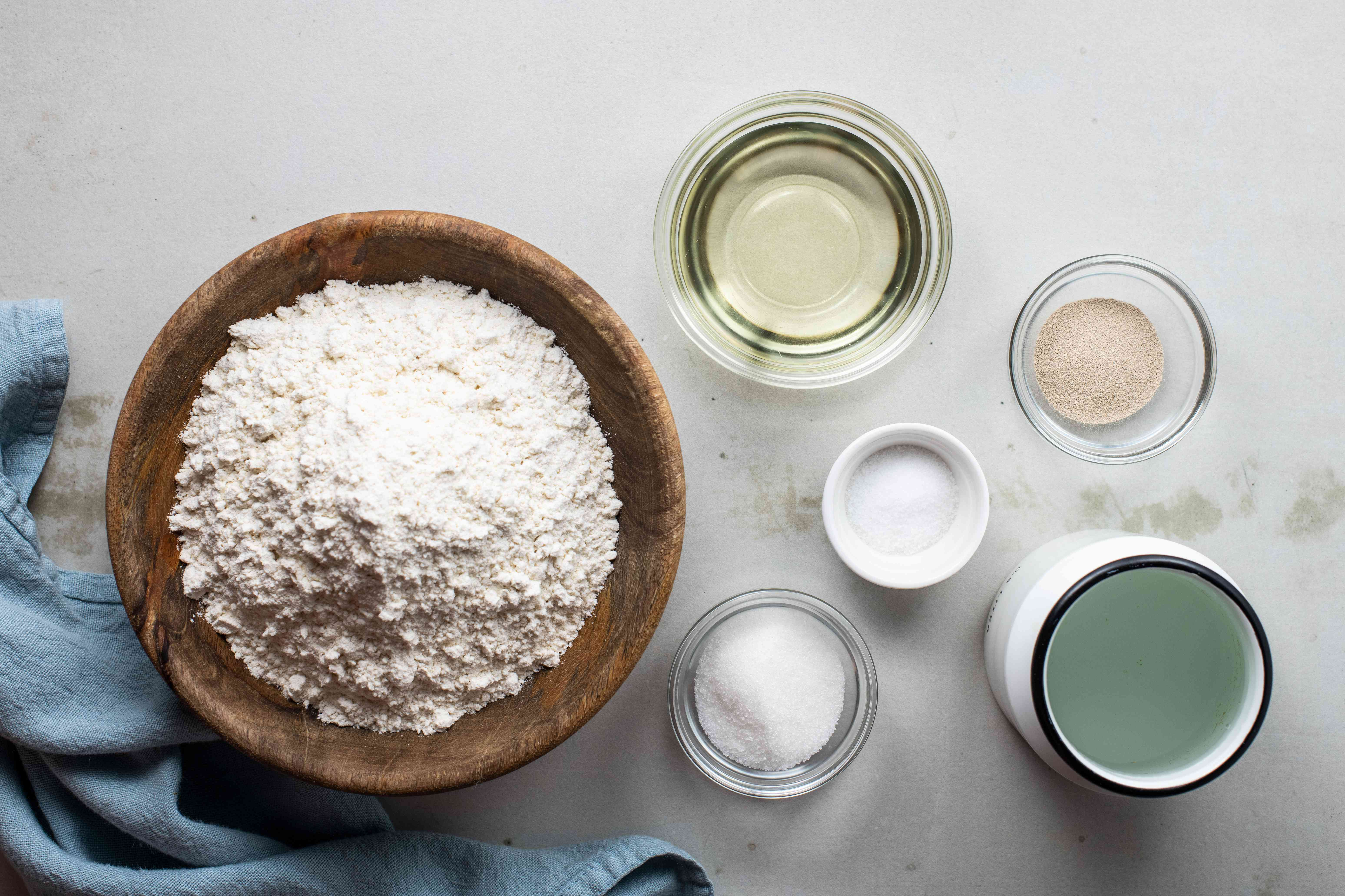 Ingredients for dough balls
