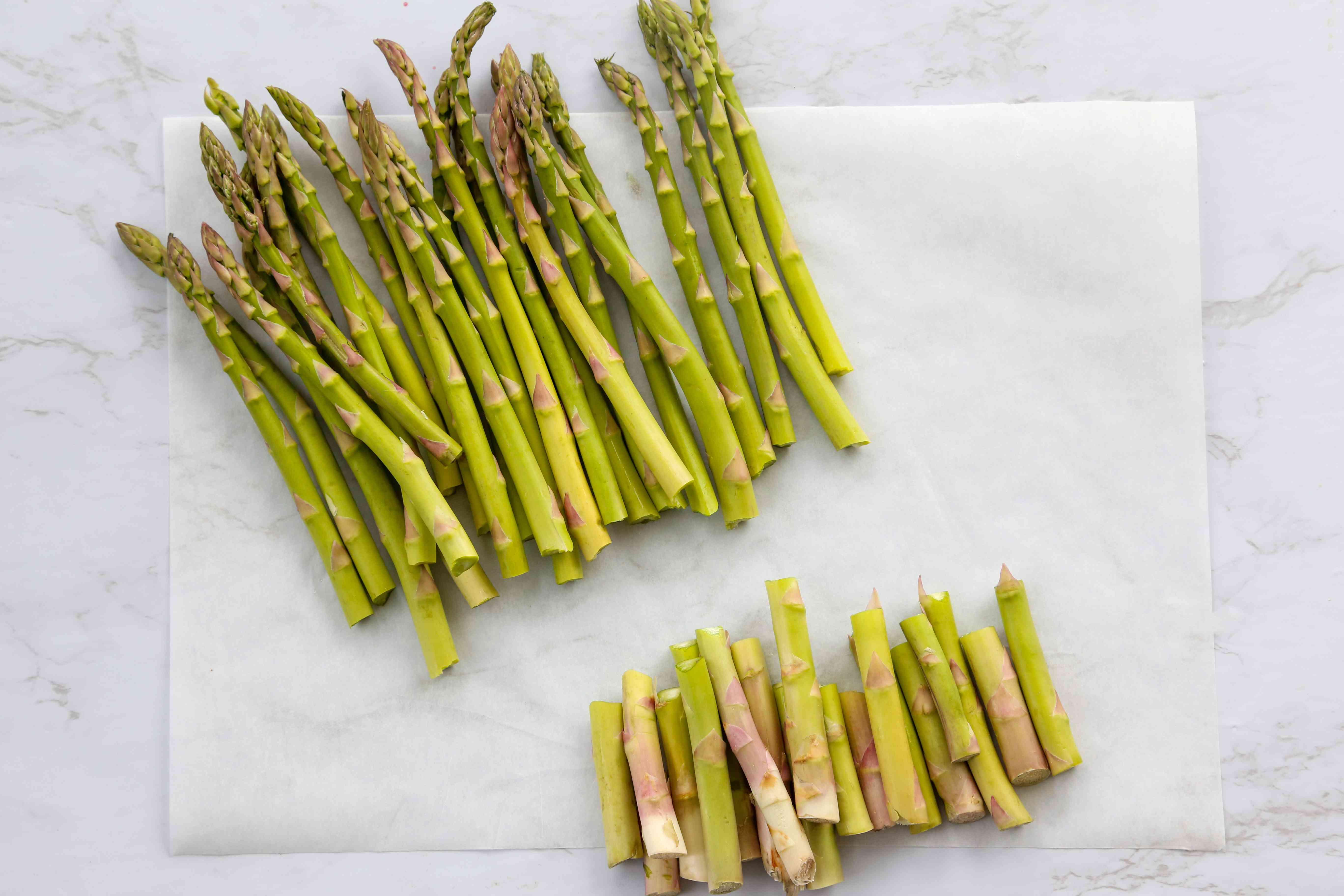 trim the asparagus