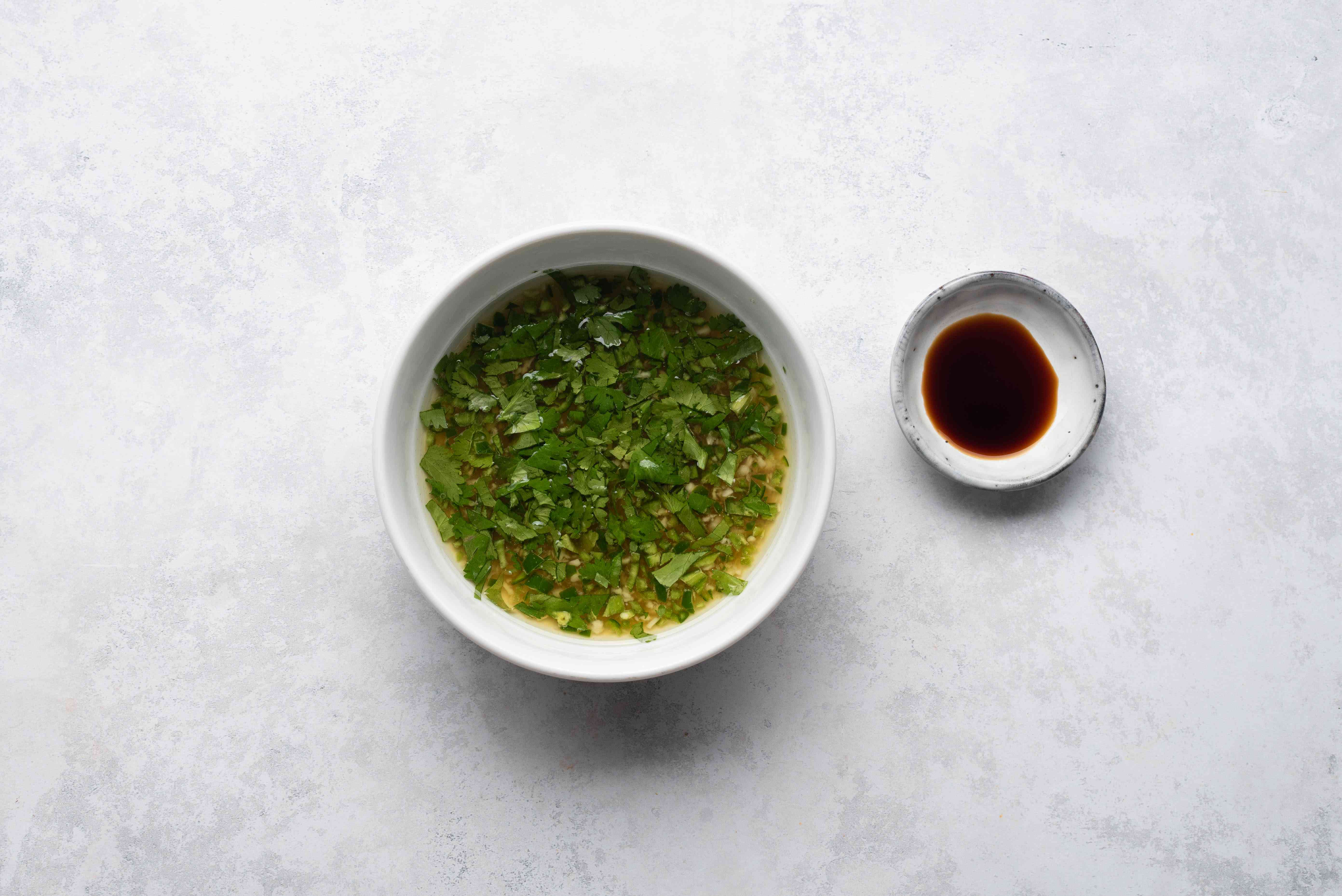 Spicy Ginger and Lime Sauce in a bowl