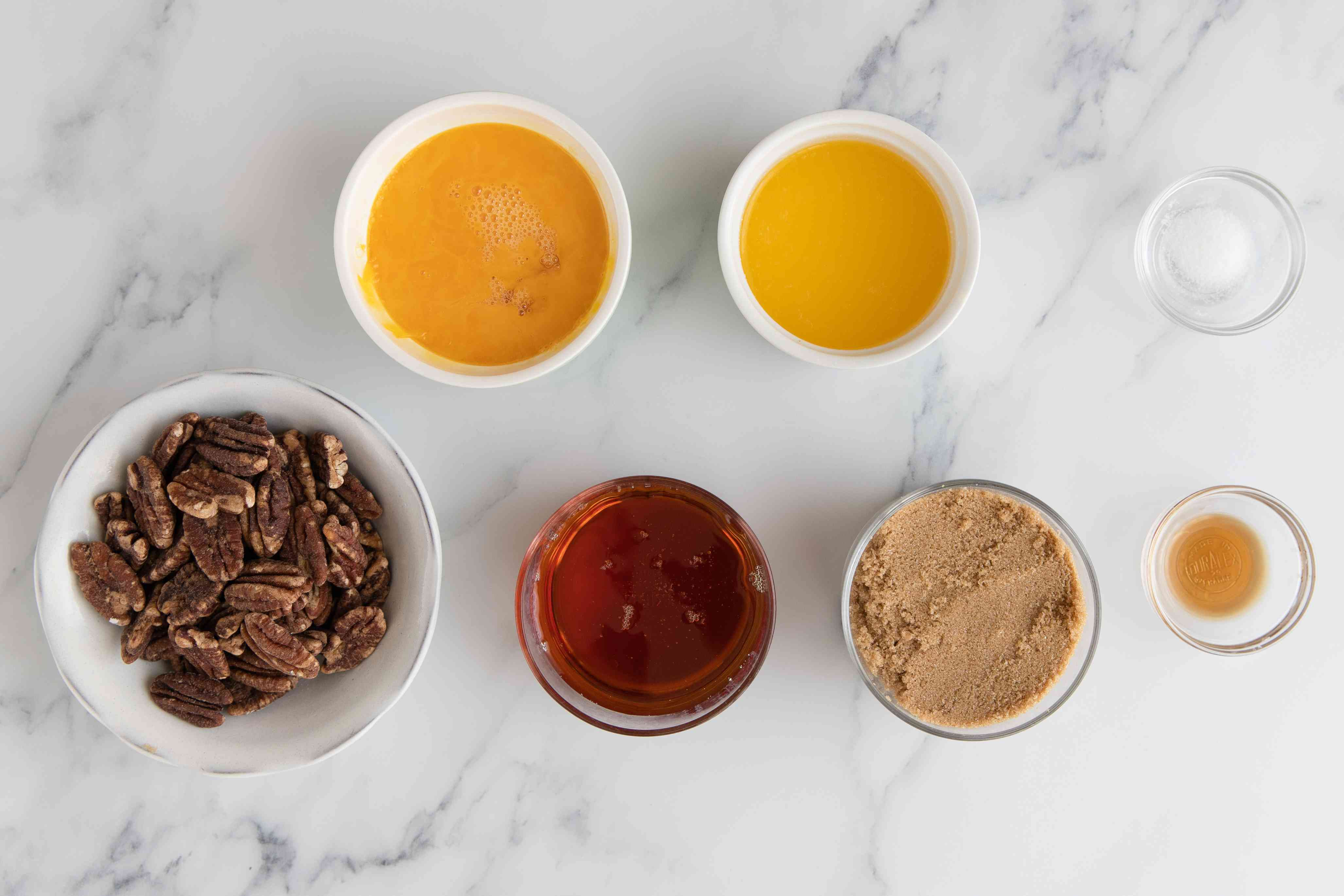 Ingredients for classic Southern pecan pie