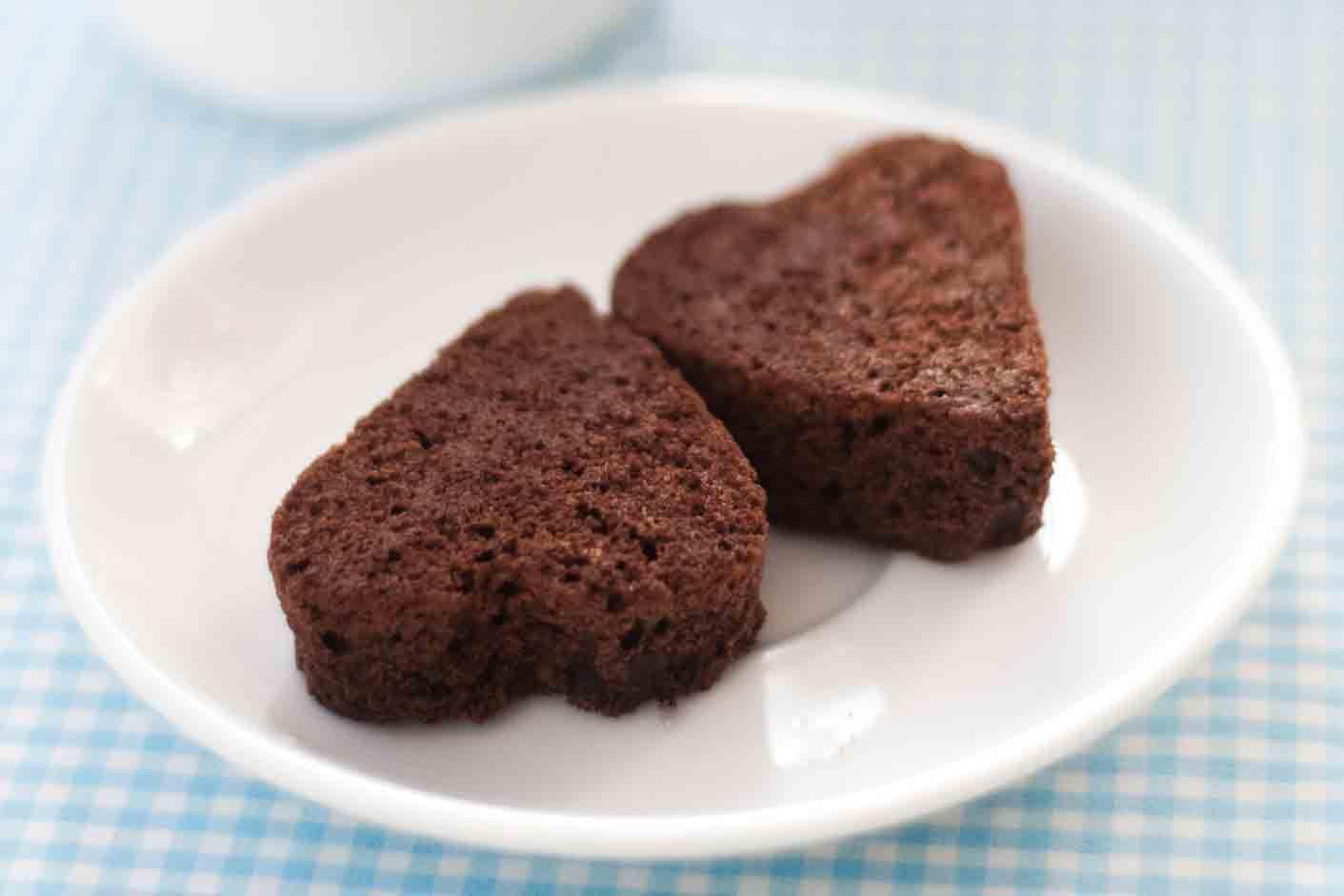 Heart shaped brownies