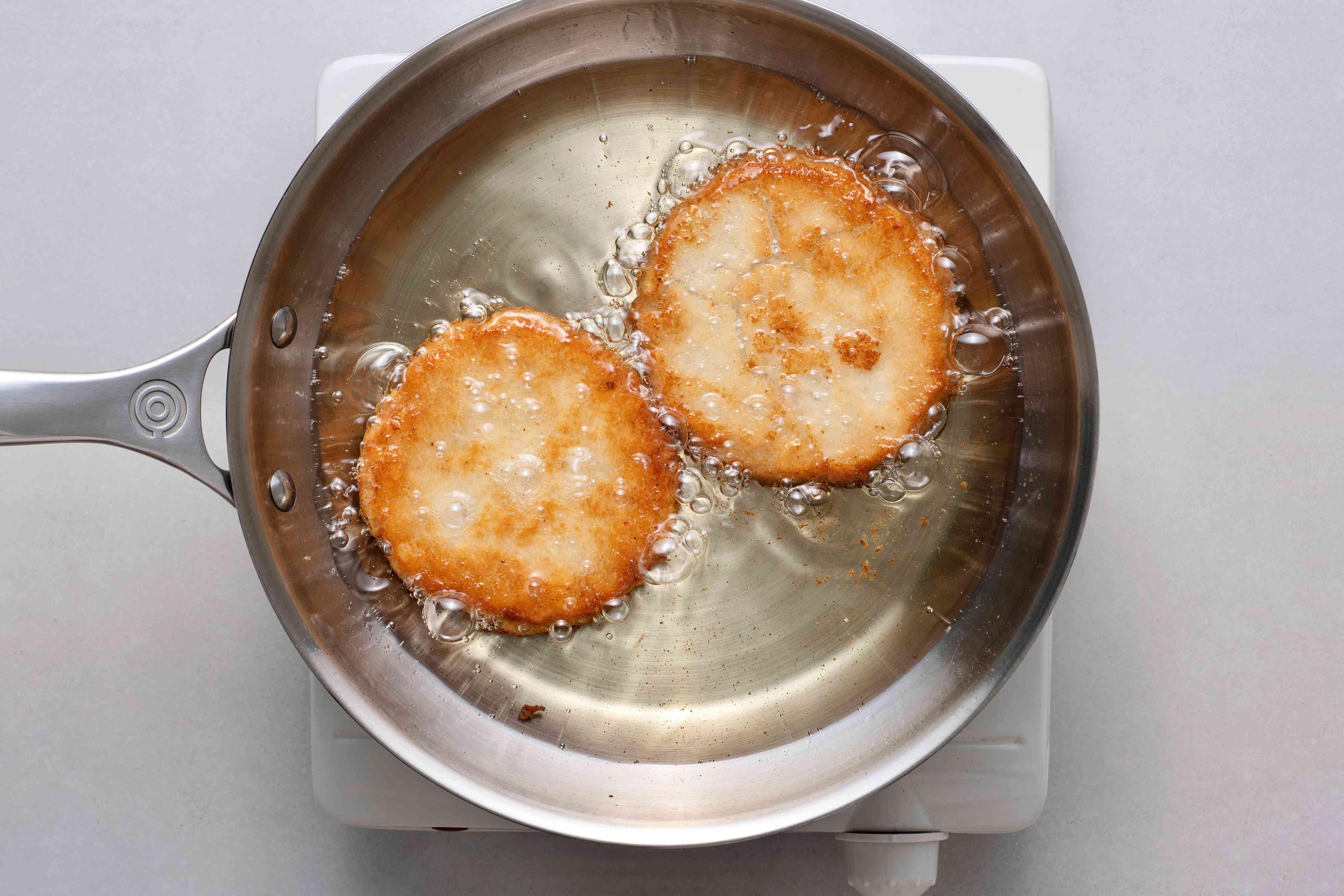 bammies frying in oil