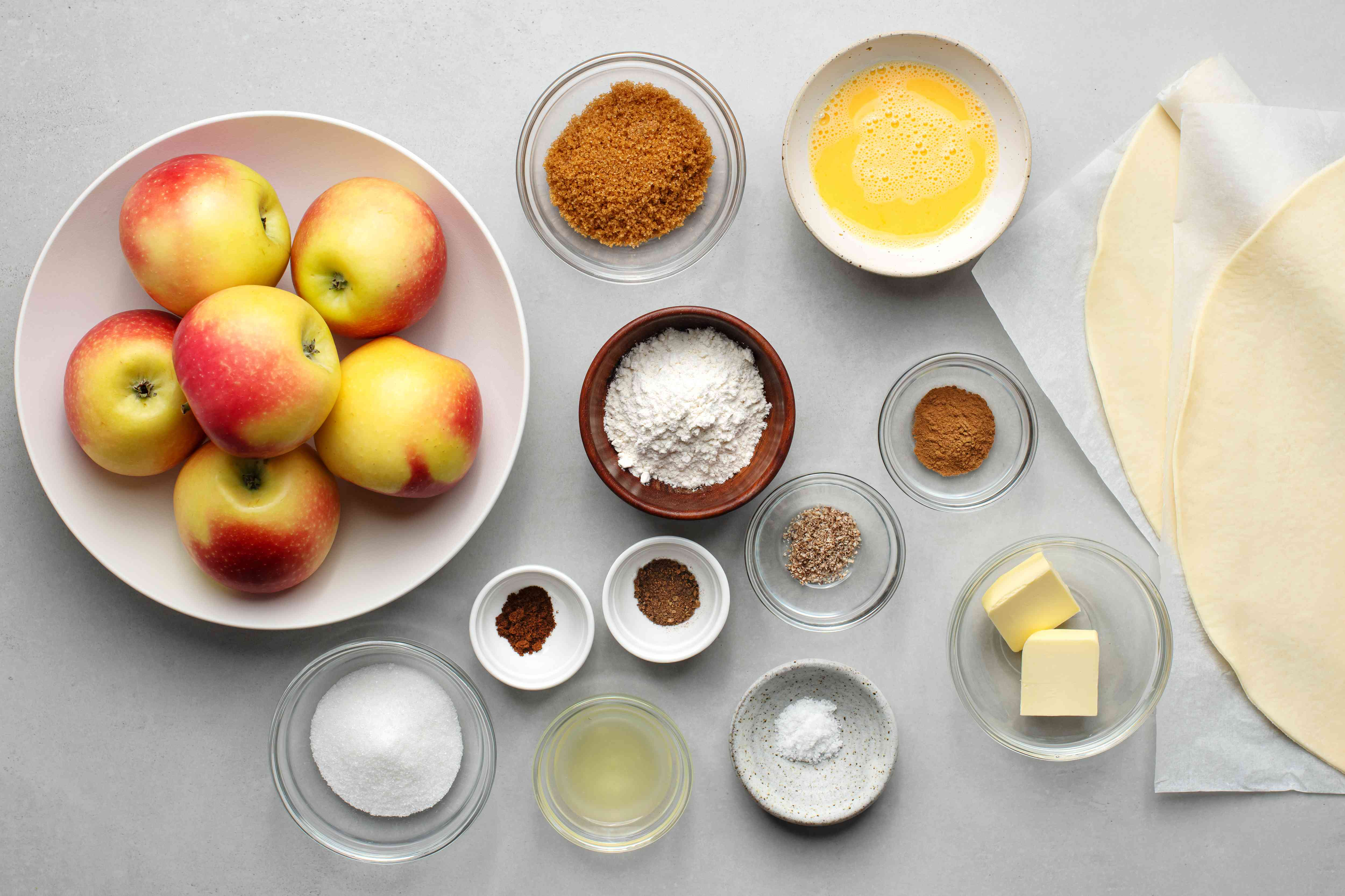 Old-Fashioned Apple Pie ingredients