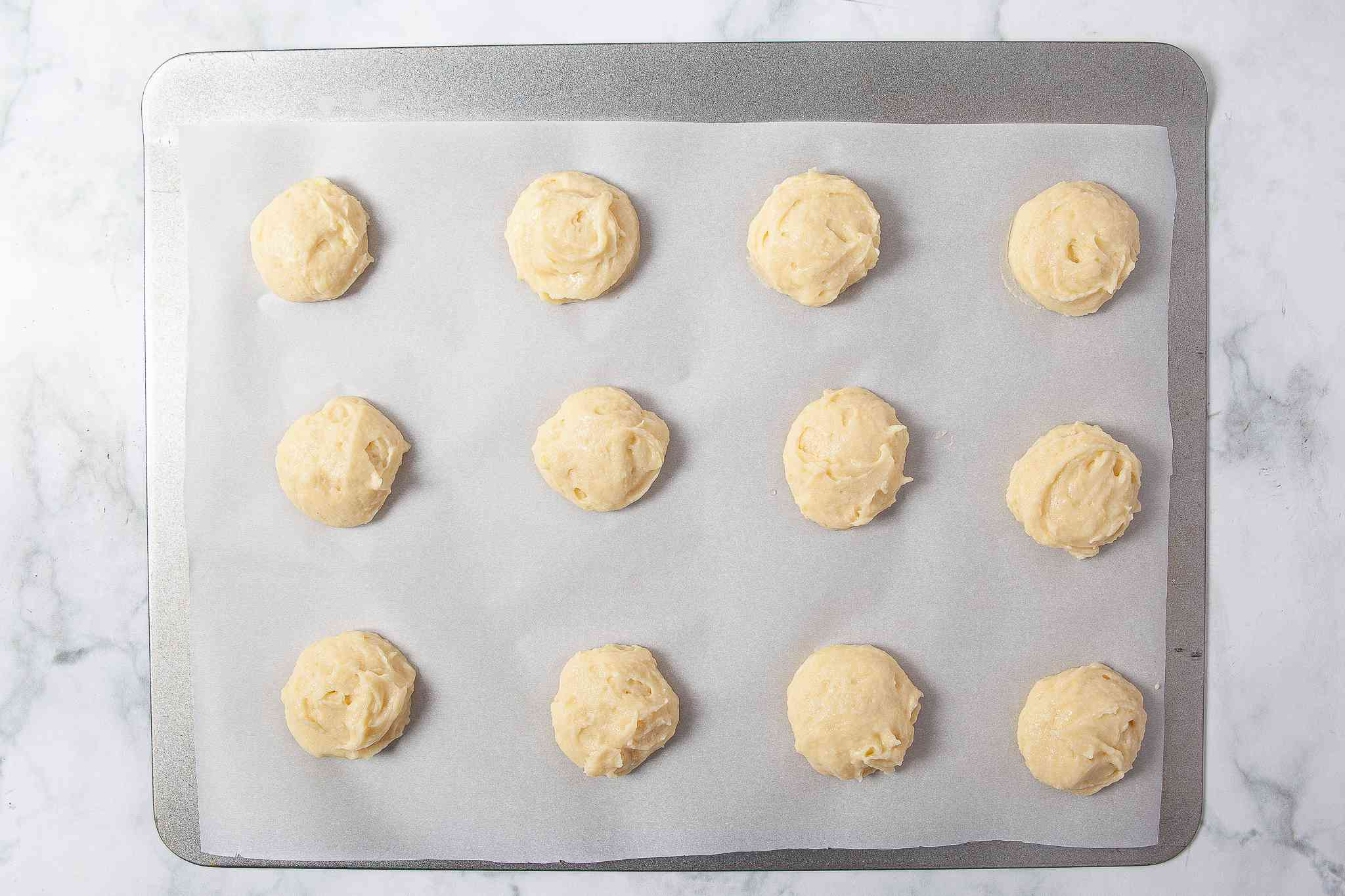 Lemon Ricotta Cookies ready to be baked