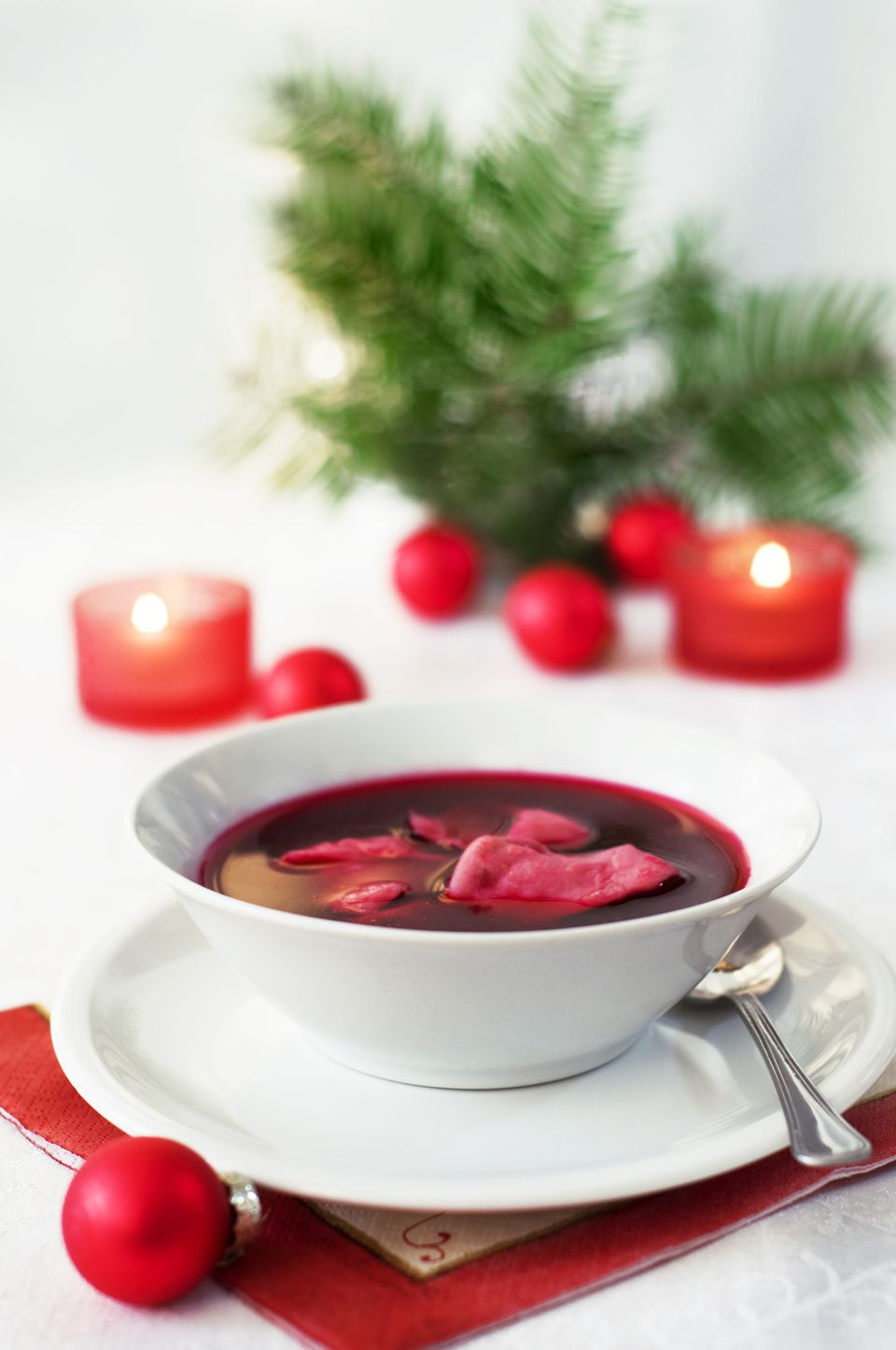 Christmas Soup.Polish Christmas Eve Beet Soup Barszcz Wigilijny