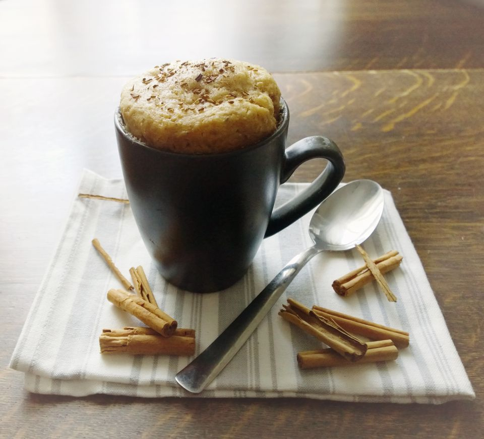 spicy cinnamon mug cake