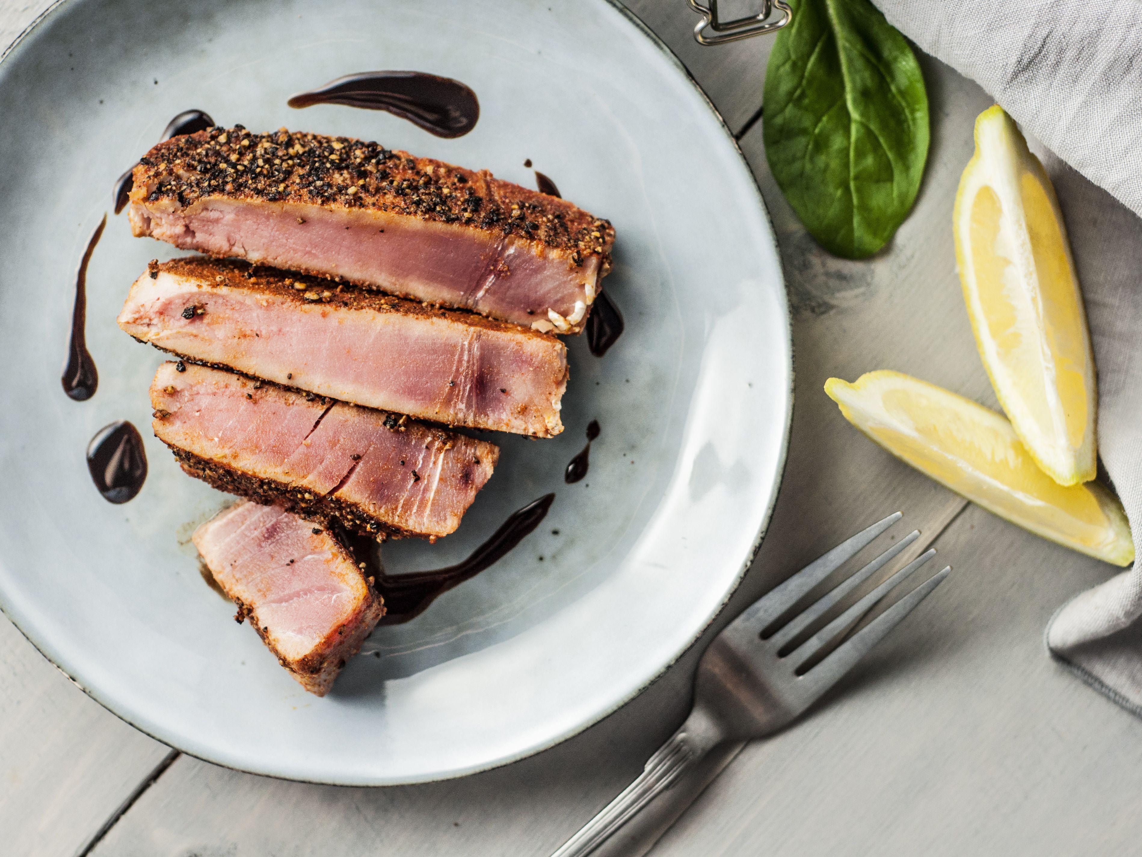 Spice Rubbed Seared Ahi Tuna Steaks Recipe