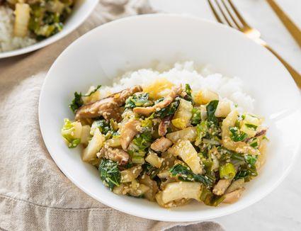 Bok choy shiitake mushroom stir fry recipe