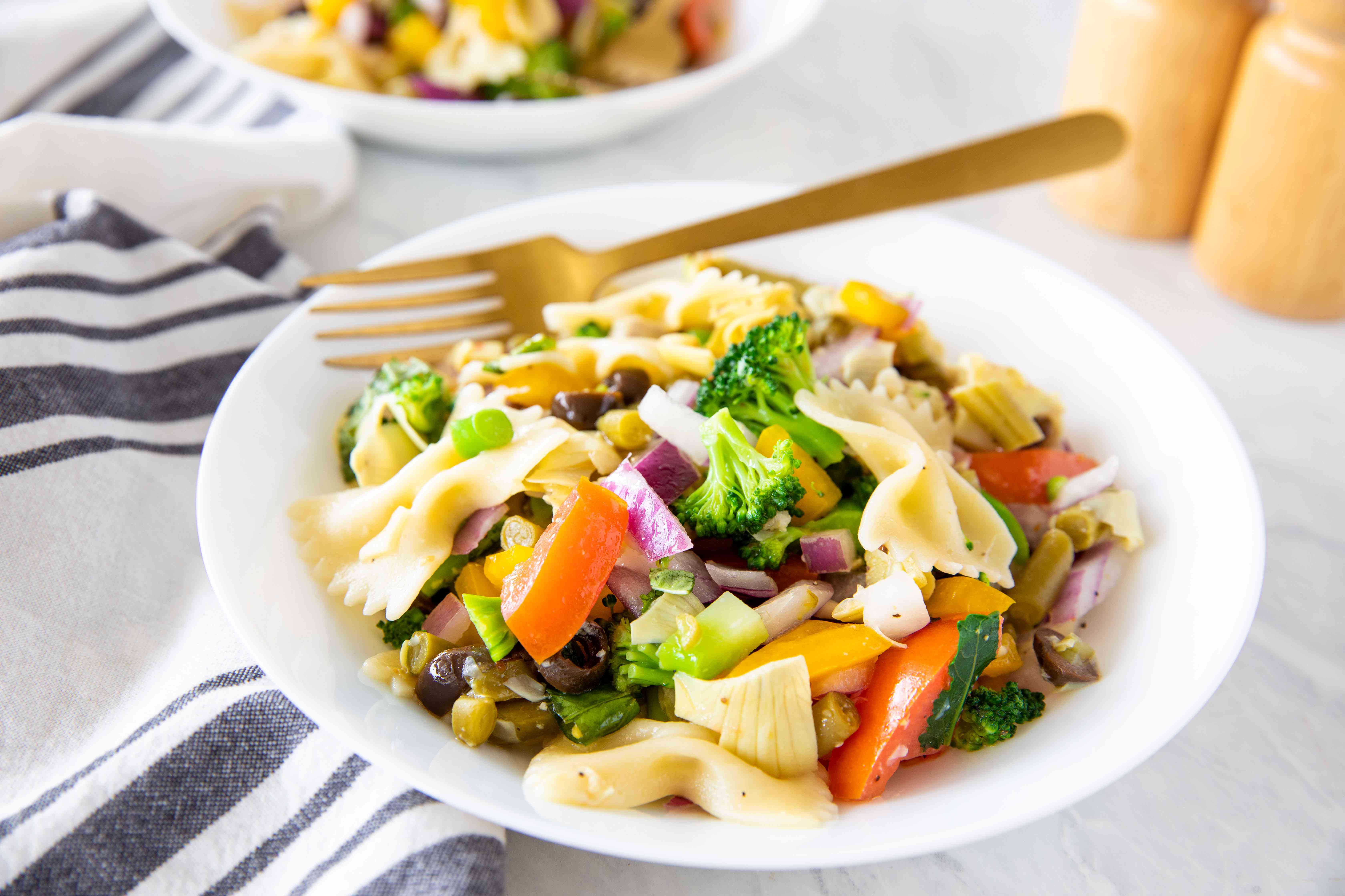 Fat free vegan pasta salad