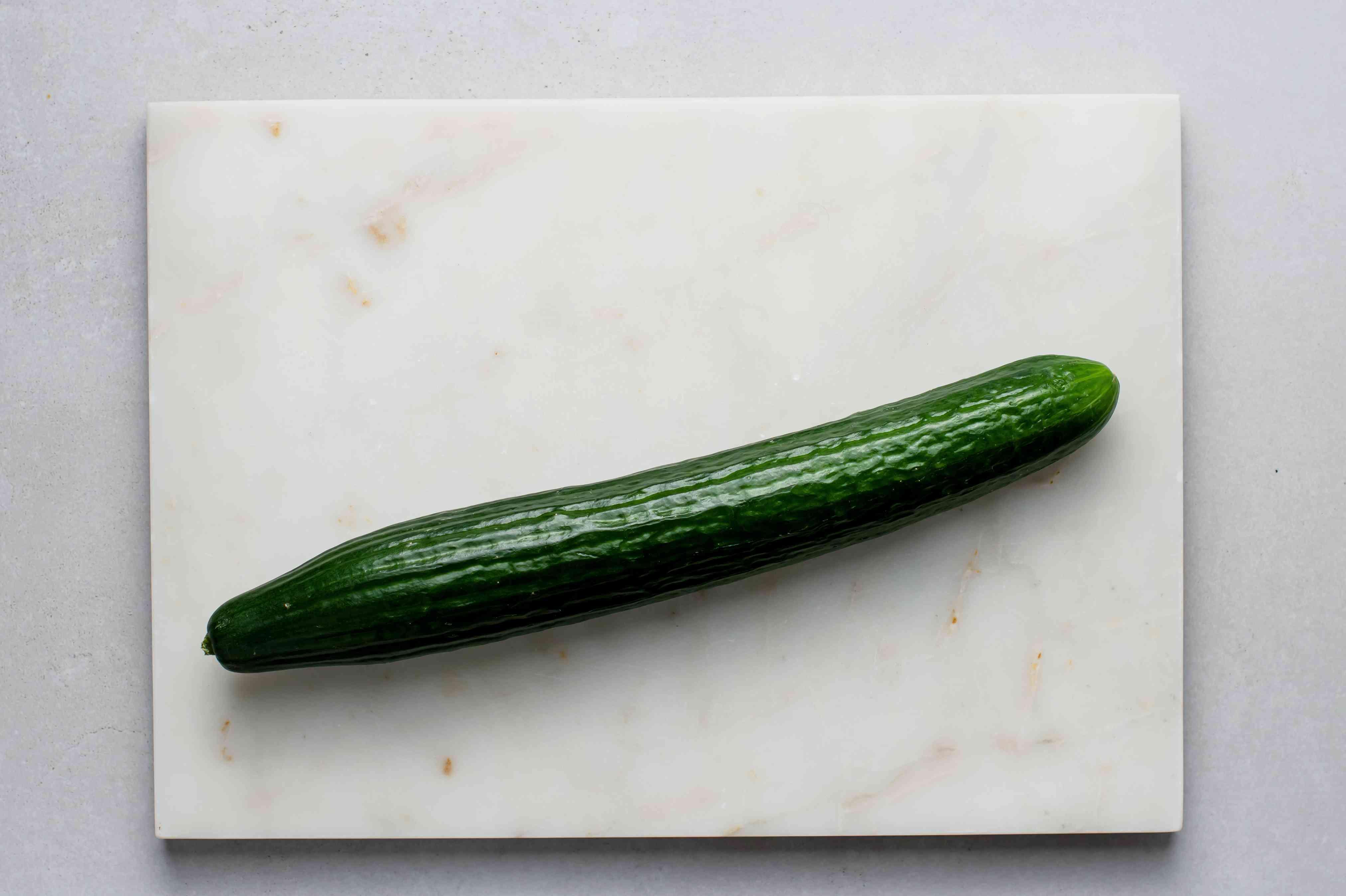 Cucumber on a cutting board