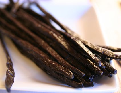 Close-up of gourmet vanilla beans