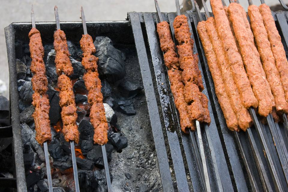 Jugosos indios Seekh Kababs