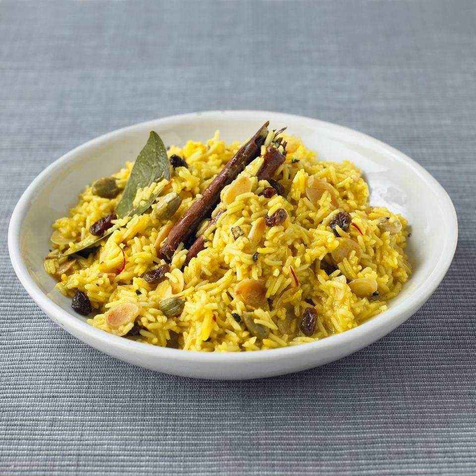Pilaf de arroz con papas y basmati