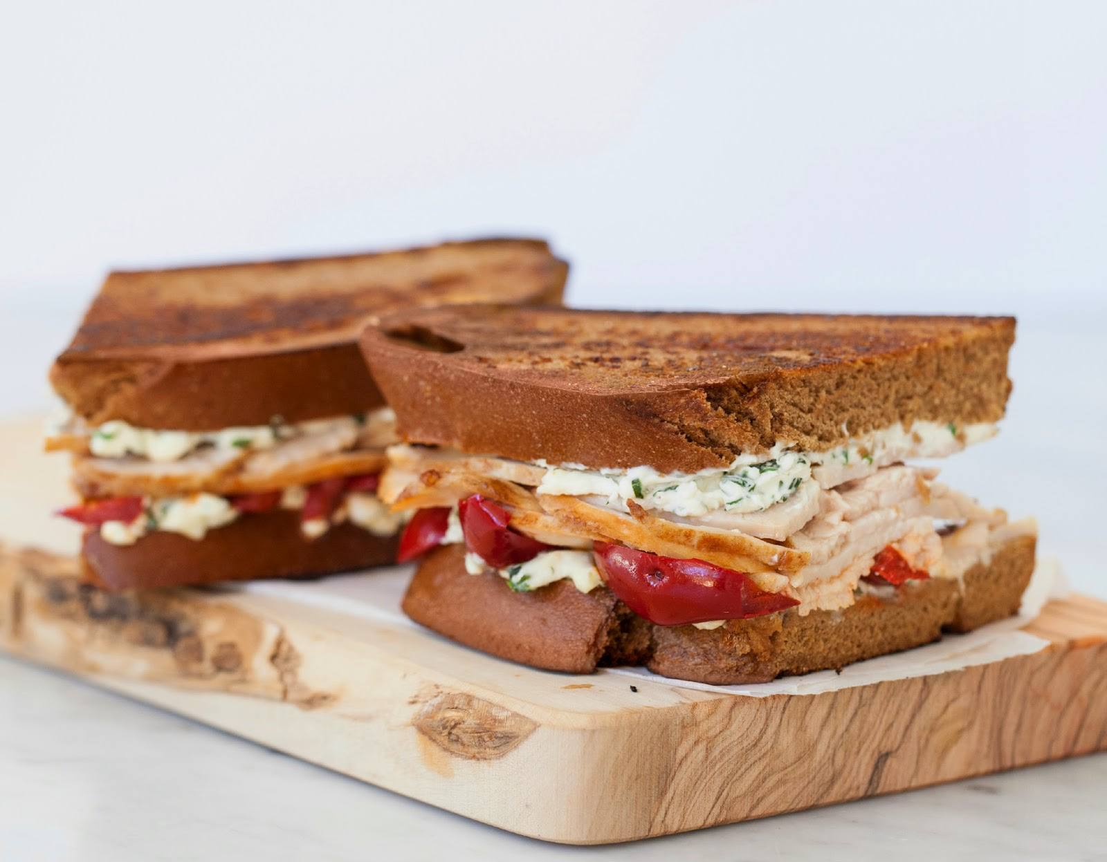 Herbed turkey grilled cheese