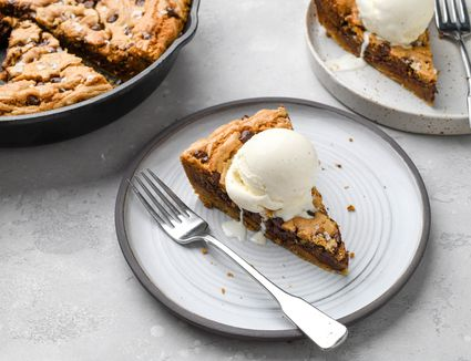 One-Bowl Chocolate Chip Skillet Cookie