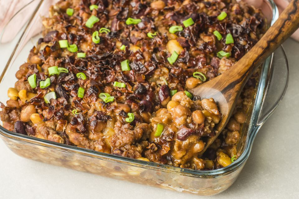 Texas bean bake with ground beef