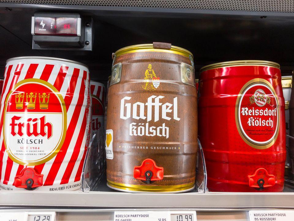 Früh, Gaffel und Reissdorf Kölsch Party beers