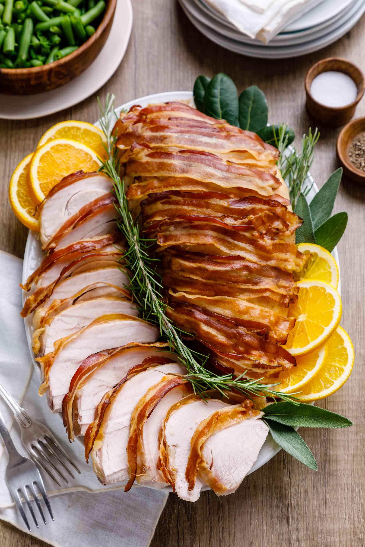 Carve turkey and serve