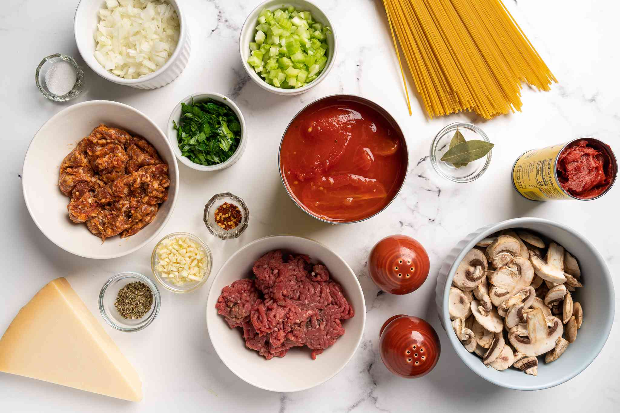 Pressure Cooker Spaghetti Sauce ingredients