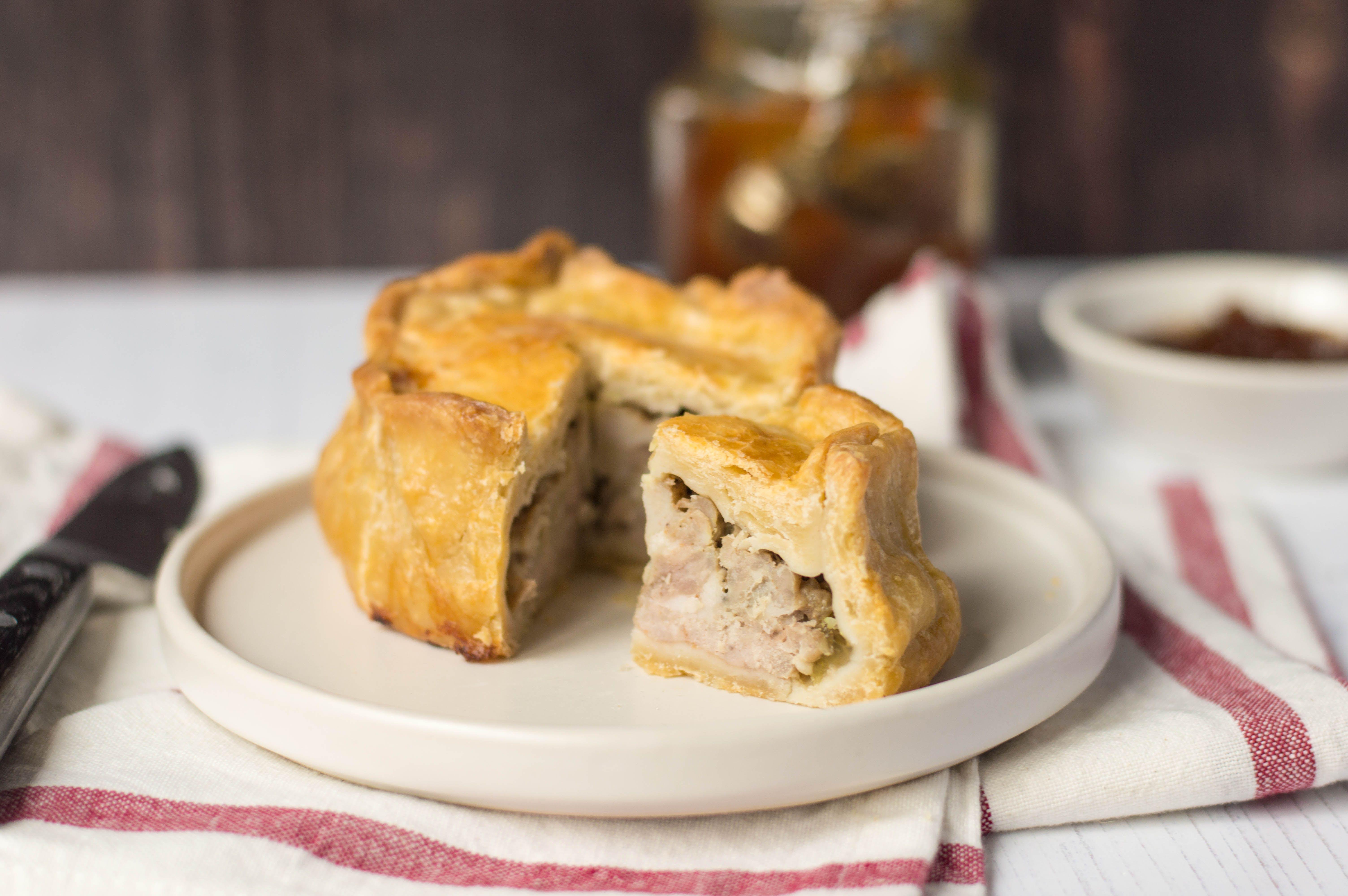 Hand-raised pork pie