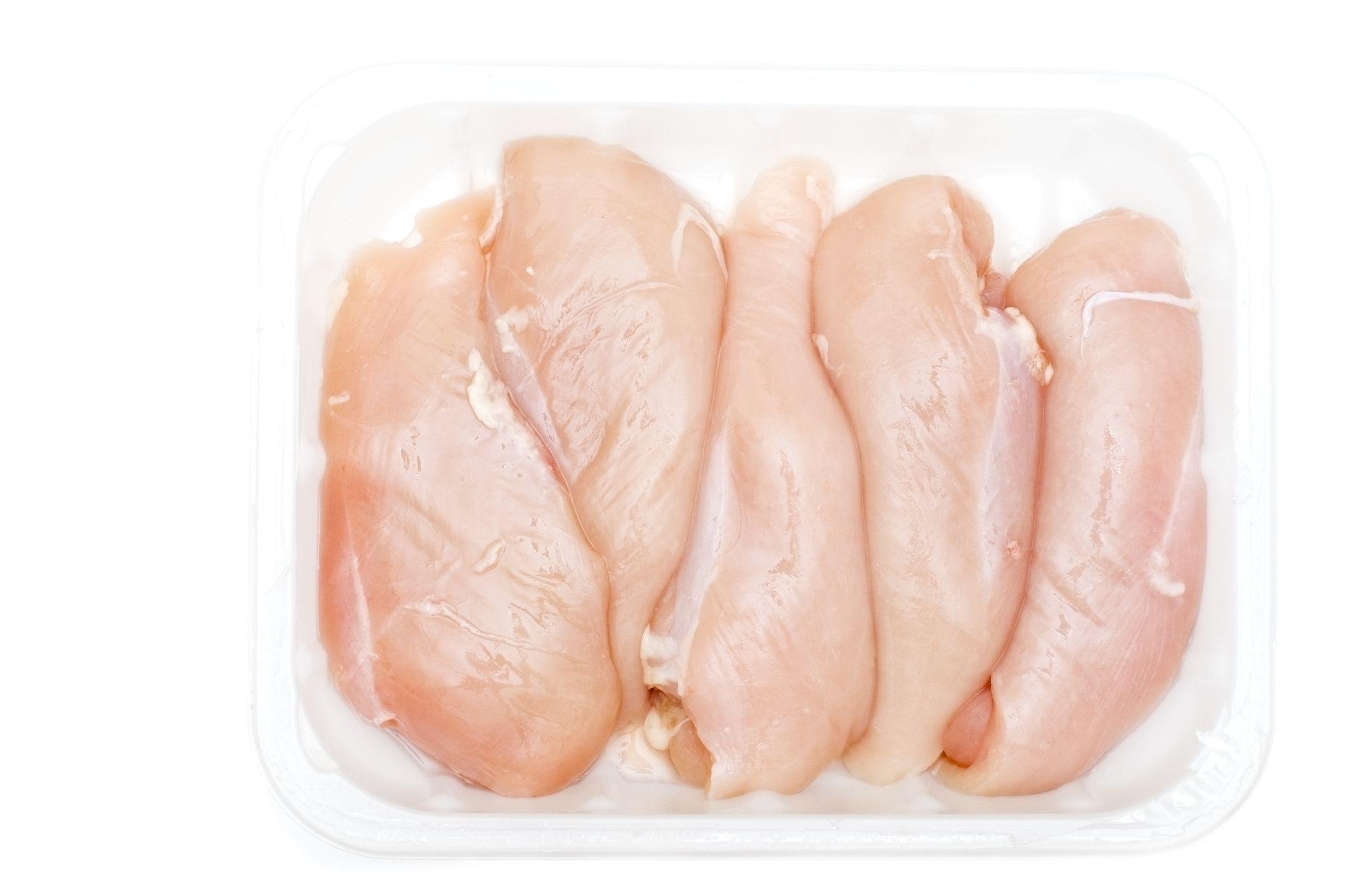 Packaged chicken