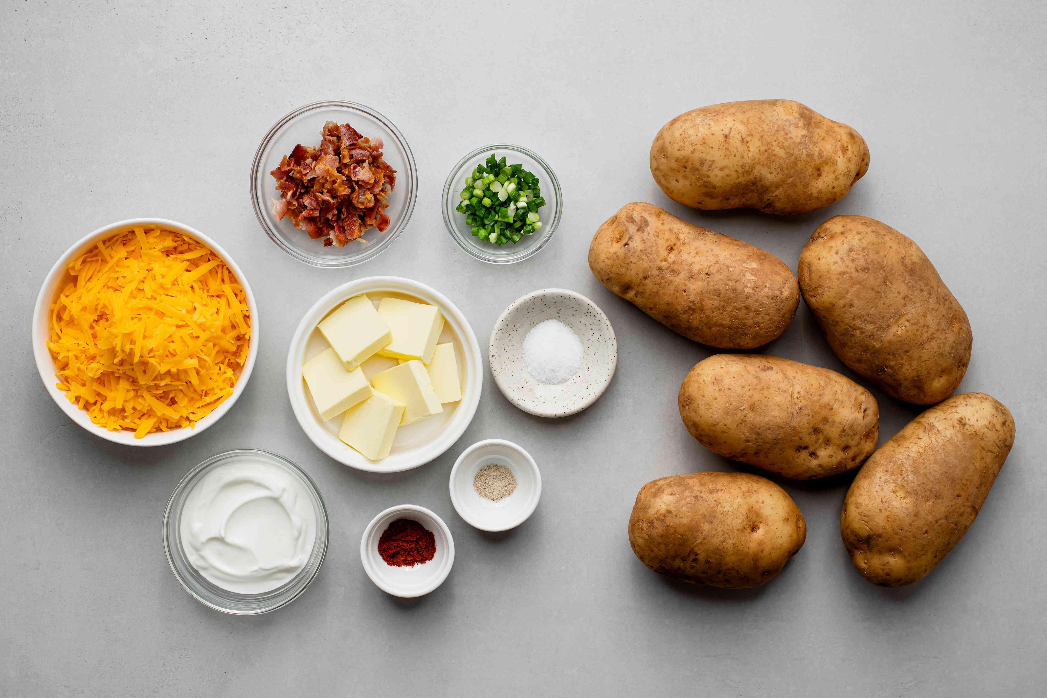 Baked stuffed potato ingredients
