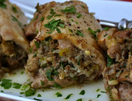 Chicken With Dirty Rice Stuffing