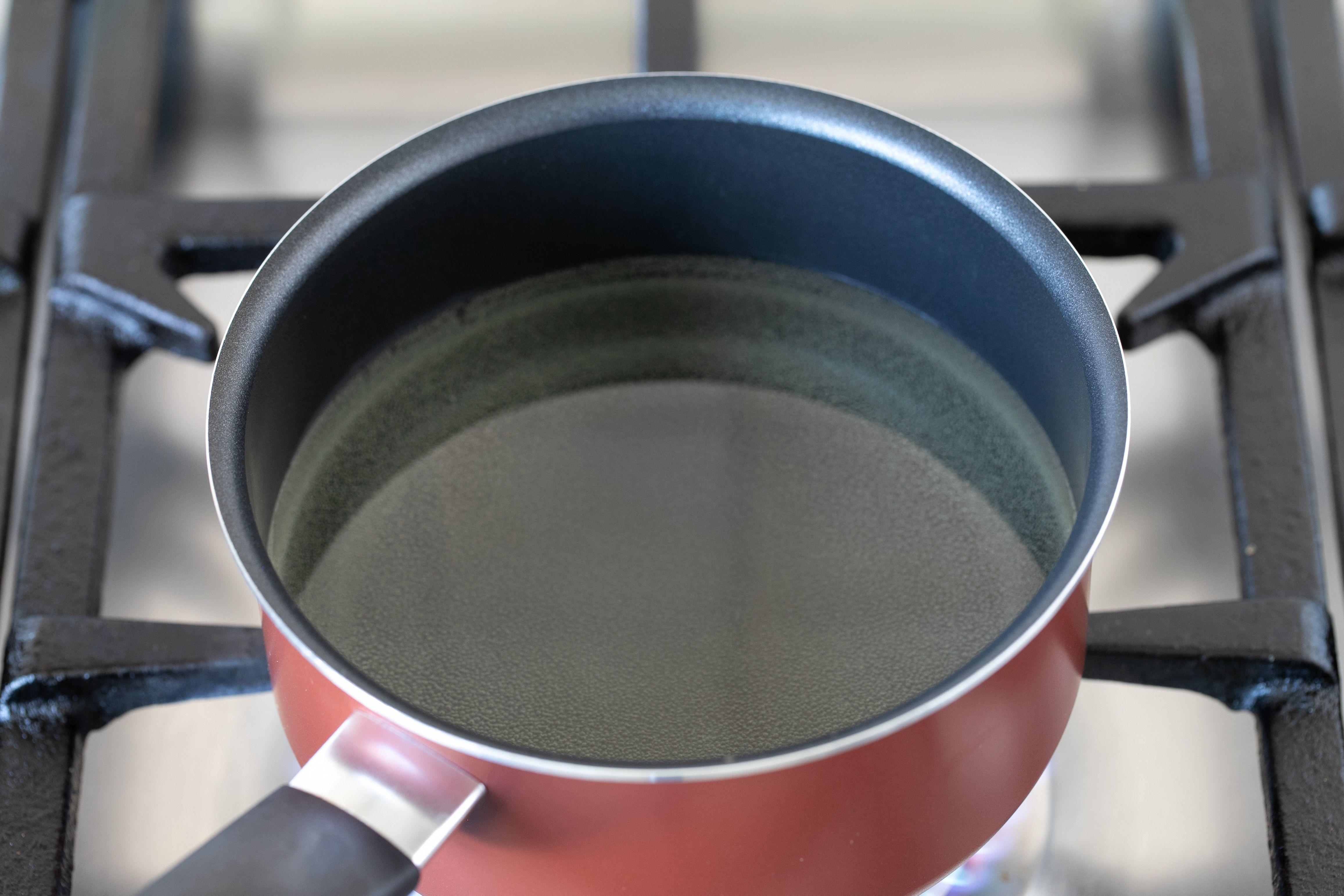 Heat oil