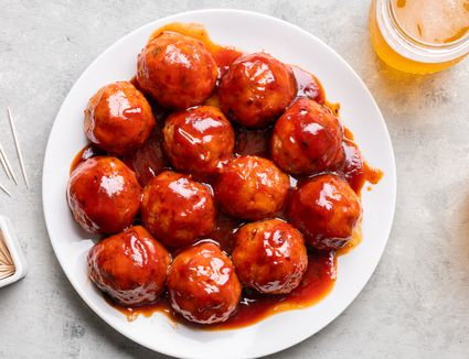 Slow Cooker Ham Balls on a plate