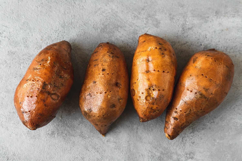 clean sweet potatoes