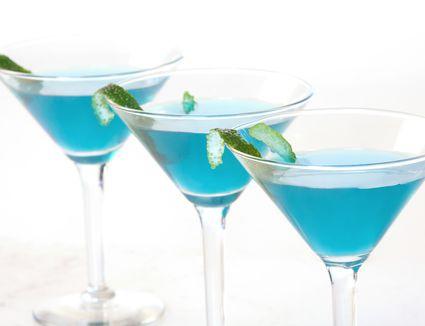 Chocolate Raspberry Martini With UV Blue Vodka