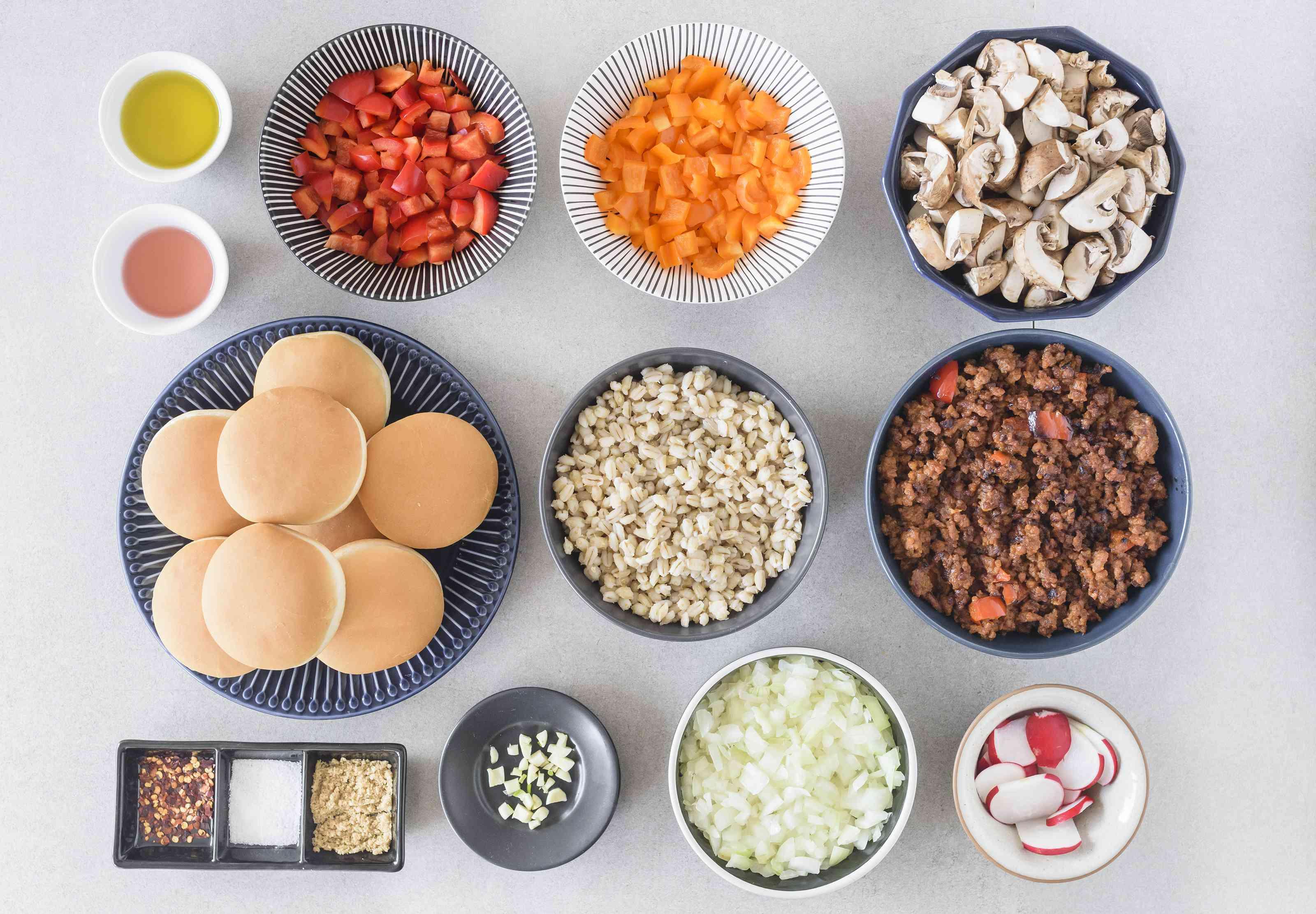 Ingredients for vegetarian Sloppy Joes