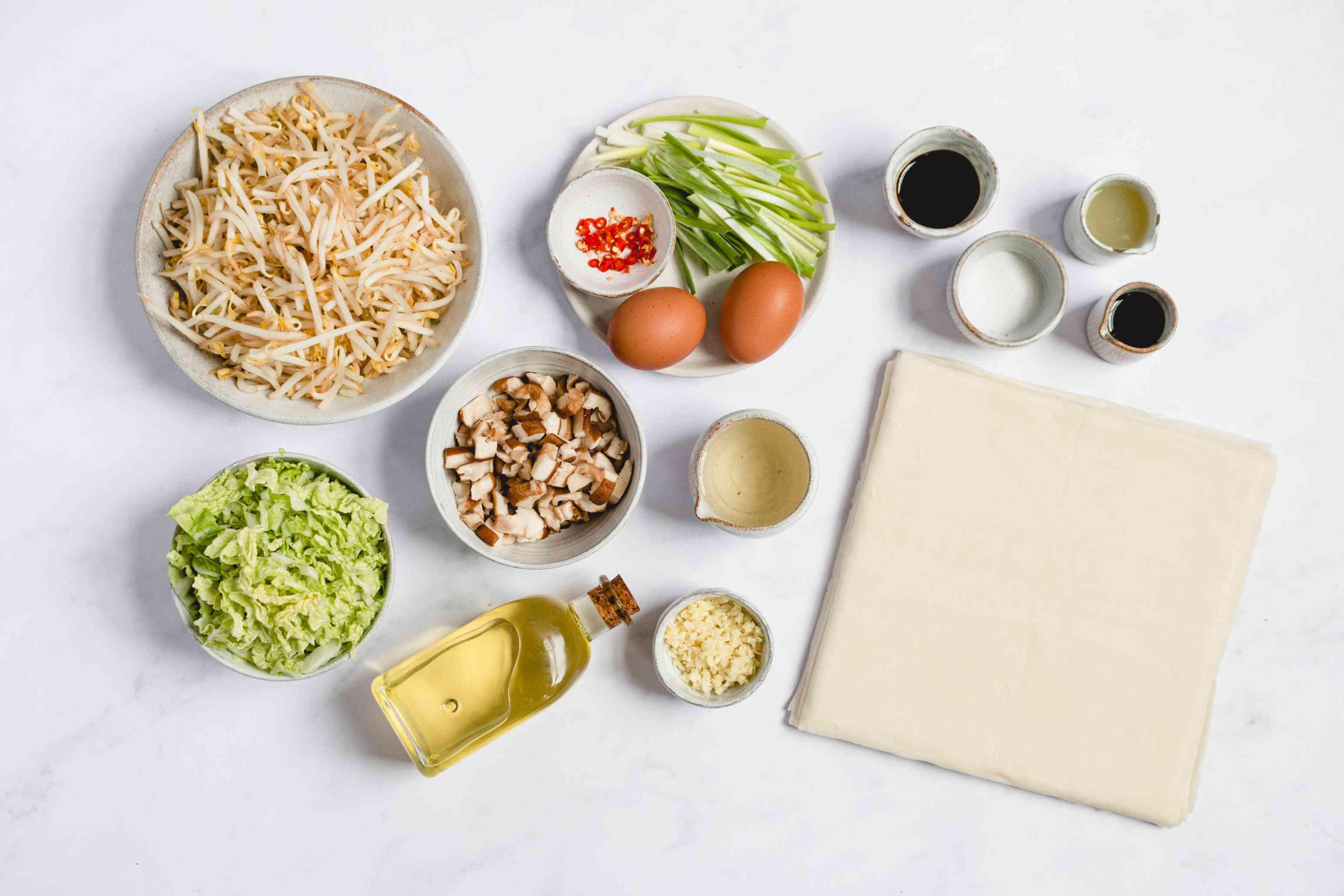 Thai Vegetarian Egg Rolls ingredients