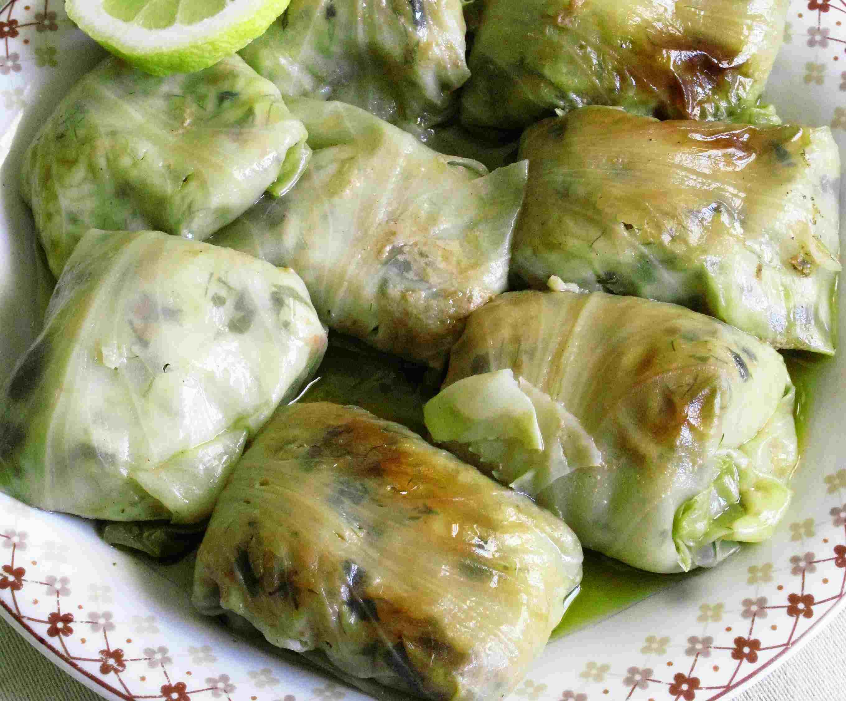 Greek Stuffed Cabbage Rolls