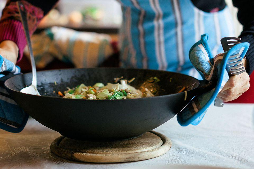 Salteado de pollo y arroz al suroeste