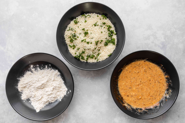 Panko and flour
