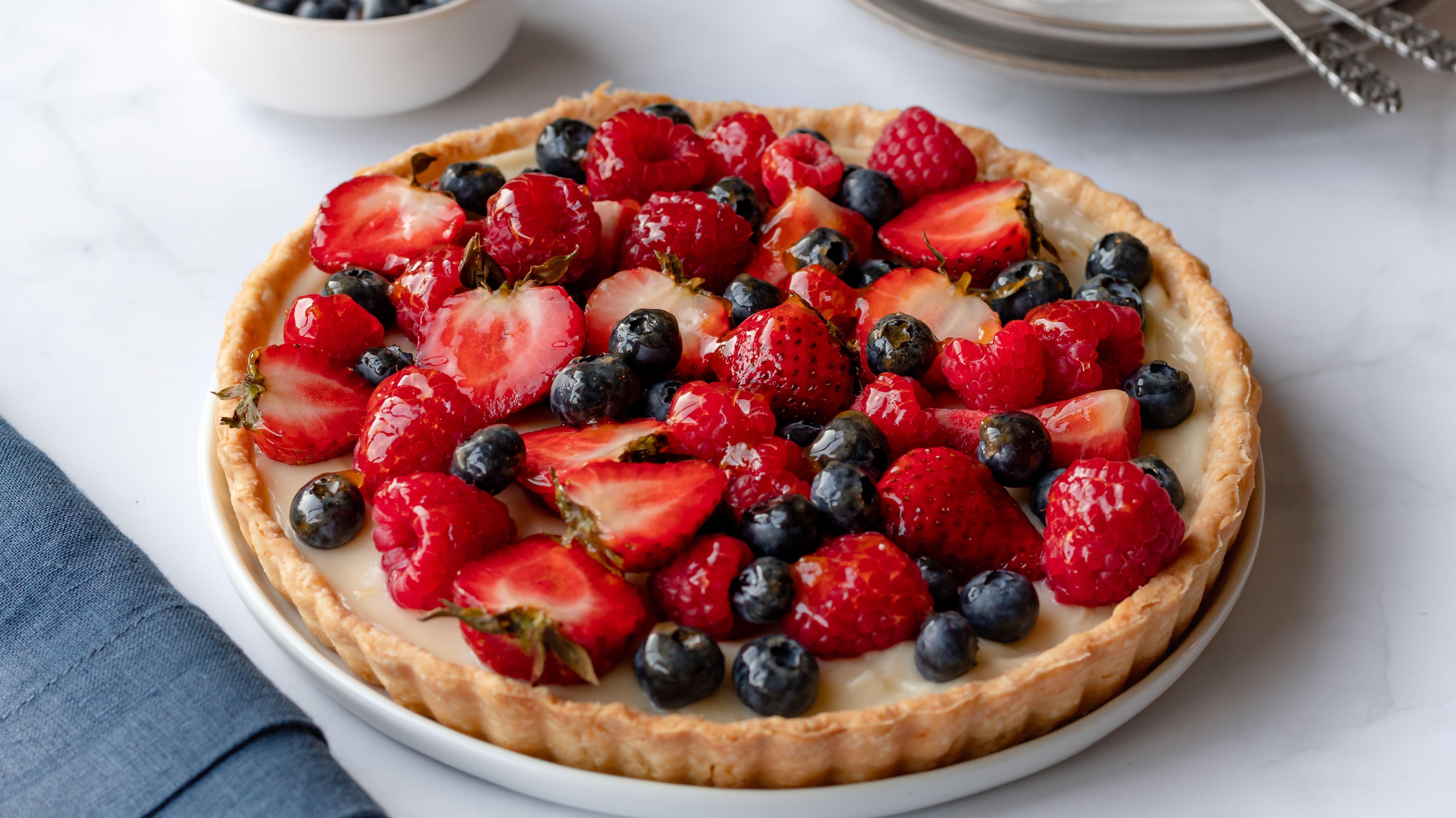 Vanilla Custard Fresh Fruit Tart Recipe
