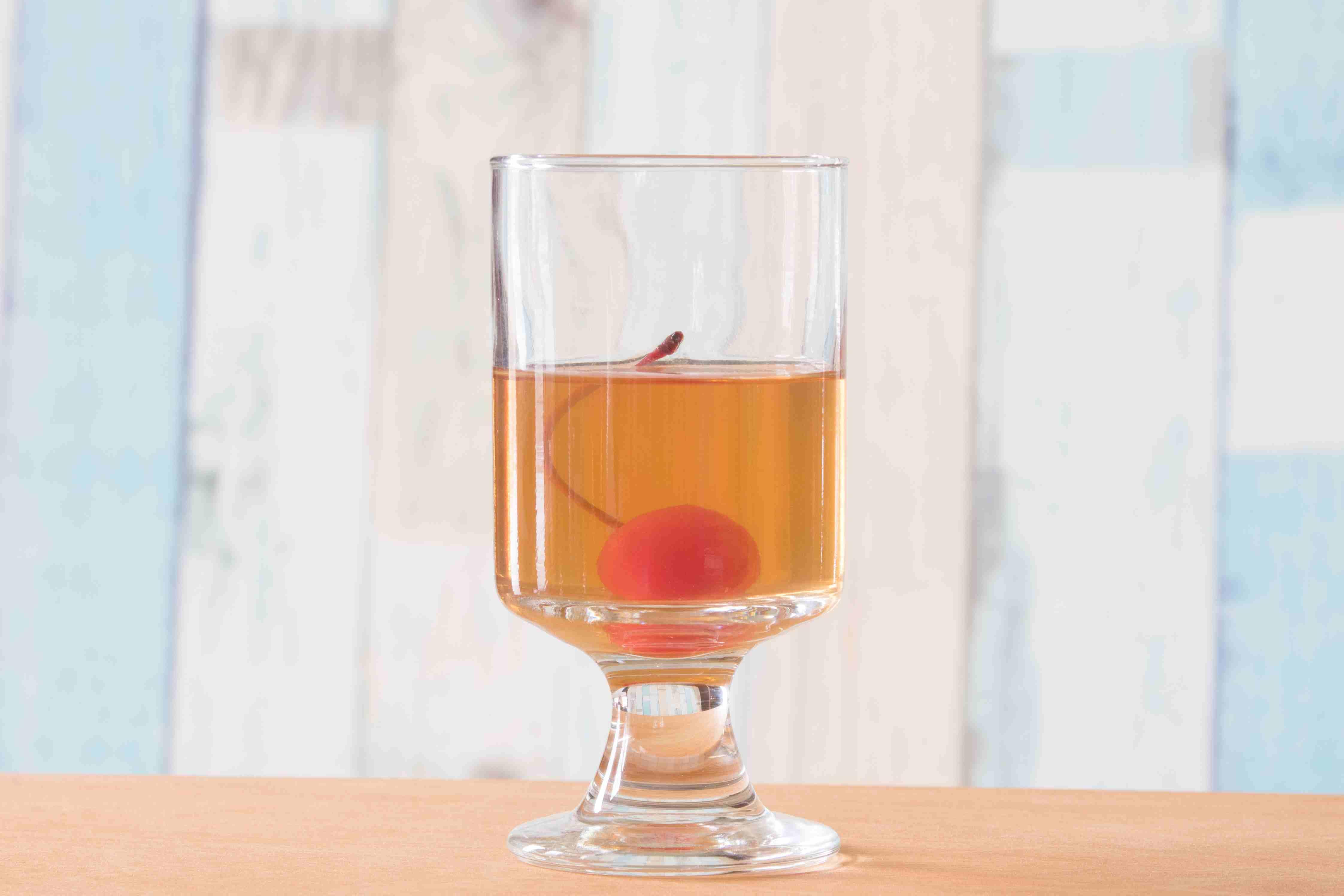 Cherry Soaking in Wild Turkey Honey Liqueur
