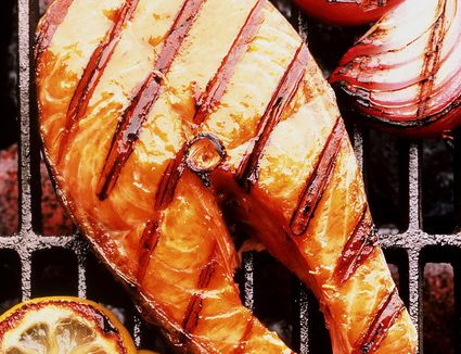 Grilled Salmon in Barbecue Sauce