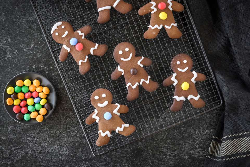 Image result for gingerbread man m&ms""
