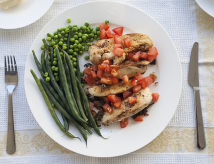 Healthy, balanced meal