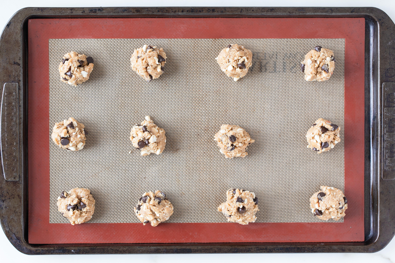 Drop cookie dough on sheet