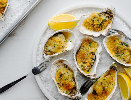 Easy butter and herb oysters recipe