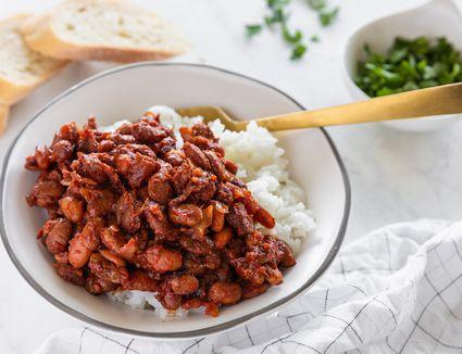 Crockpot vegetarian baked beans