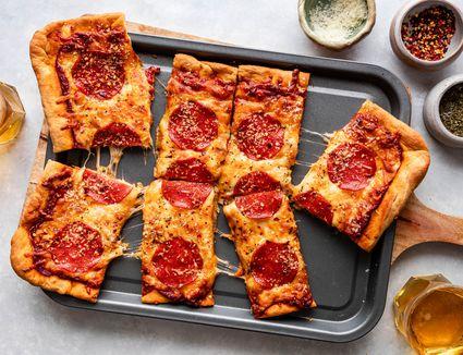 Sheet pan pizza recipe