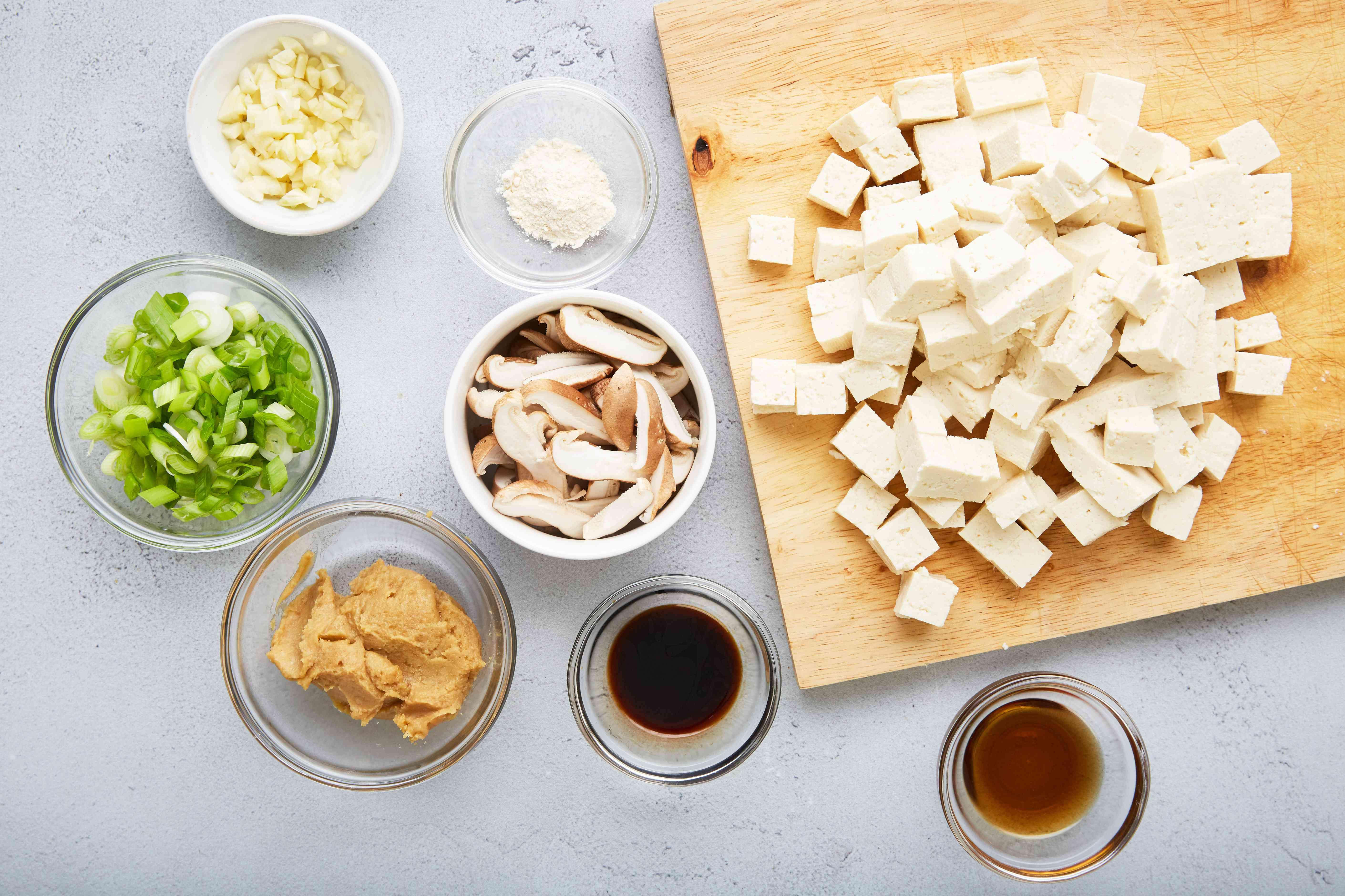 Easy garlic miso soup