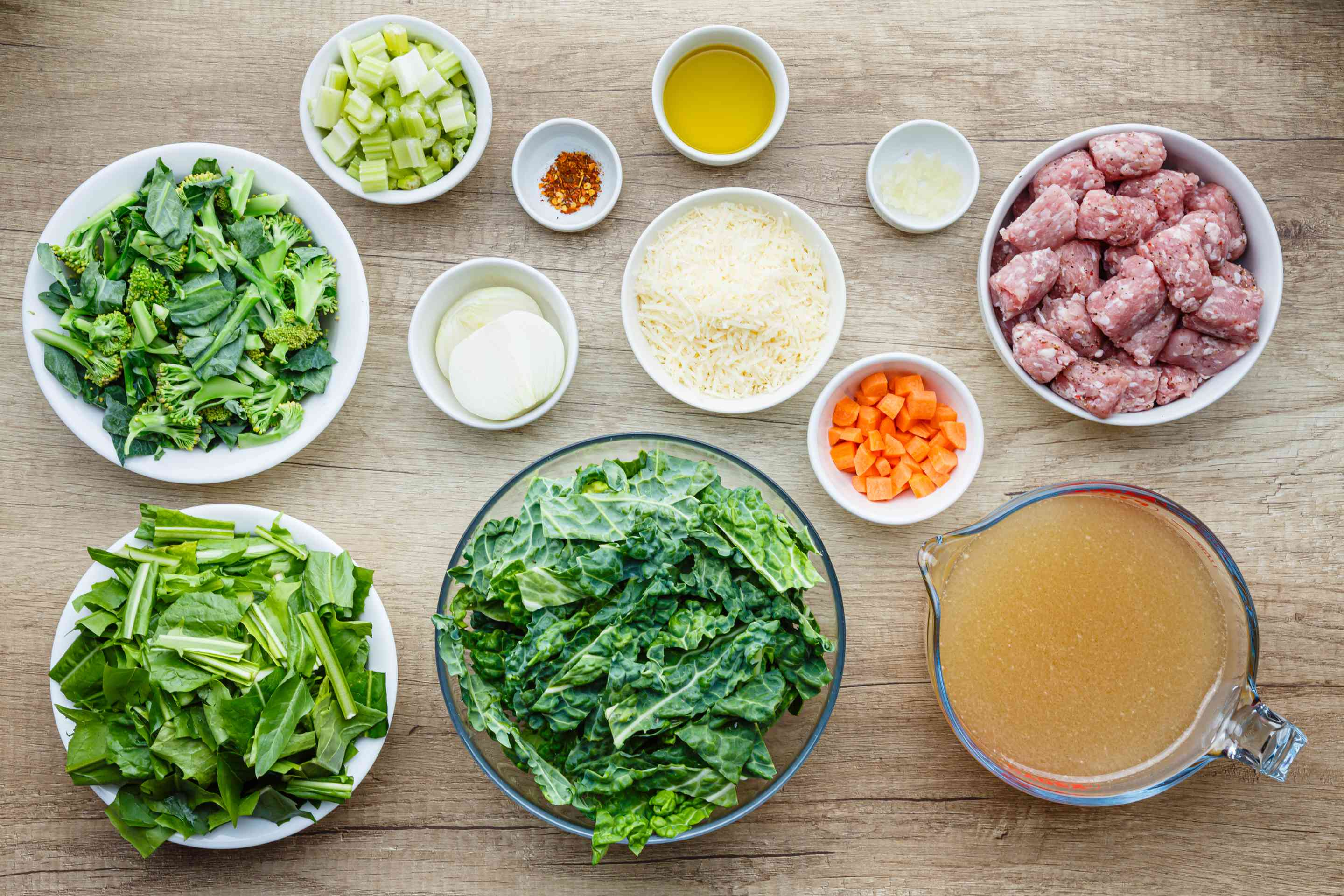 Ingredients for Italian soup