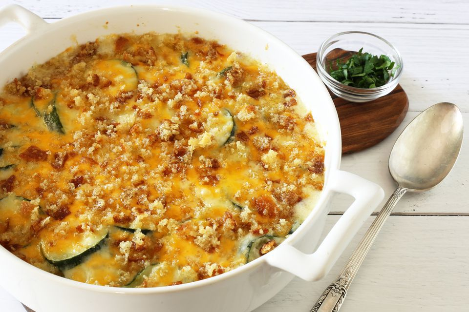 Zucchini Gratin With Cheddar Cheese