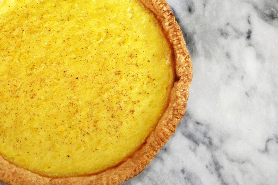 Yellow Summer Squash Custard Pie